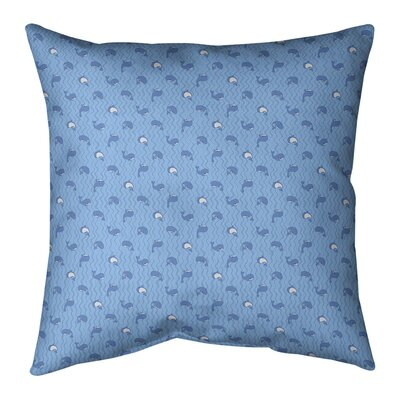 Katelyn Elizabeth Whales Indoor/Outdoor Throw Pillow by East Urban Home