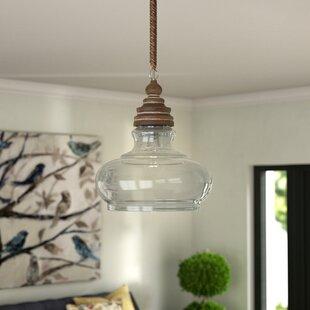 Cottage country pendants youll love wayfair maelle 1 light bell pendant aloadofball Images