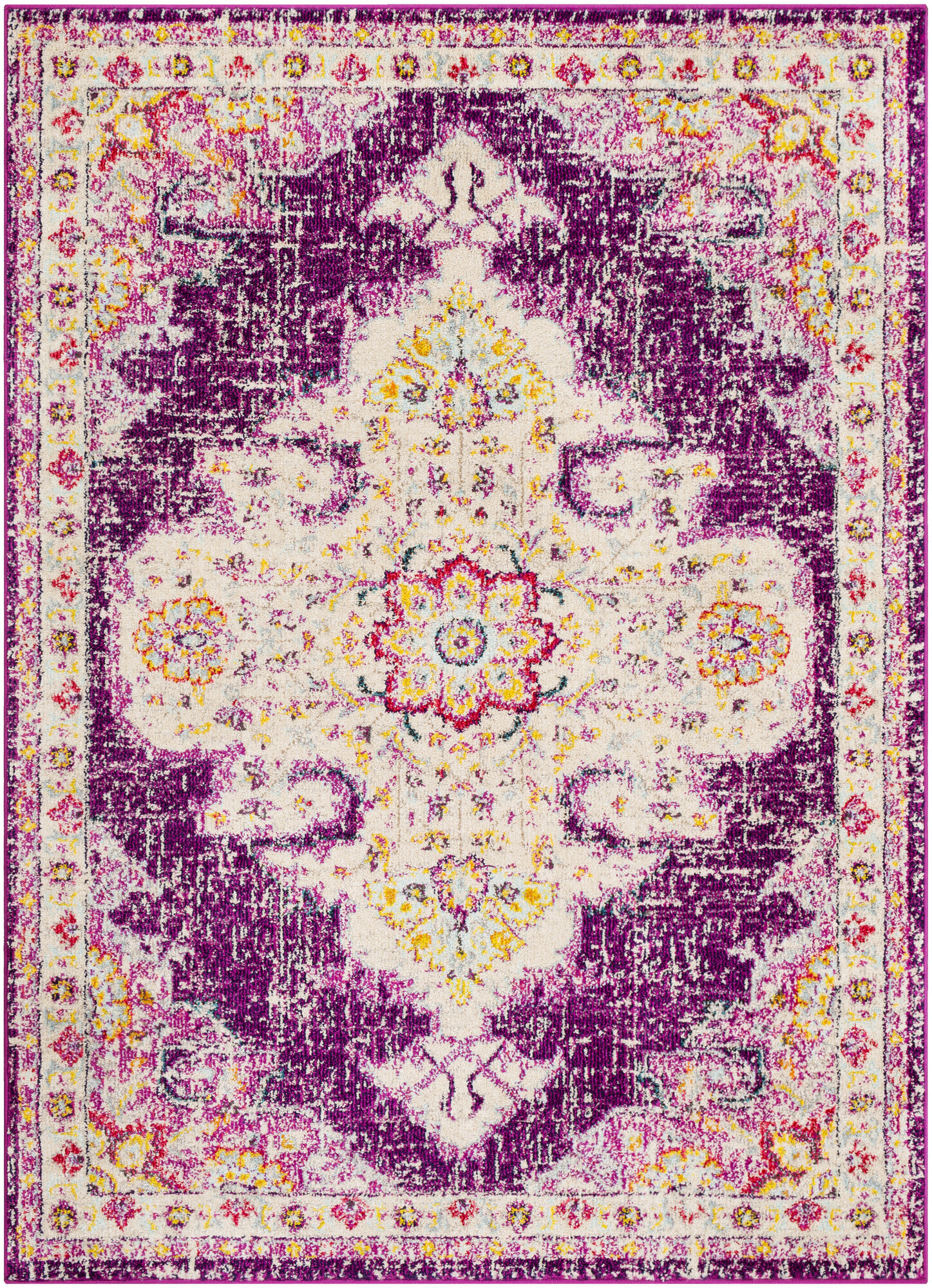 Bungalow Rose Amanah Power Loom Purple Beige Rug Reviews Wayfair