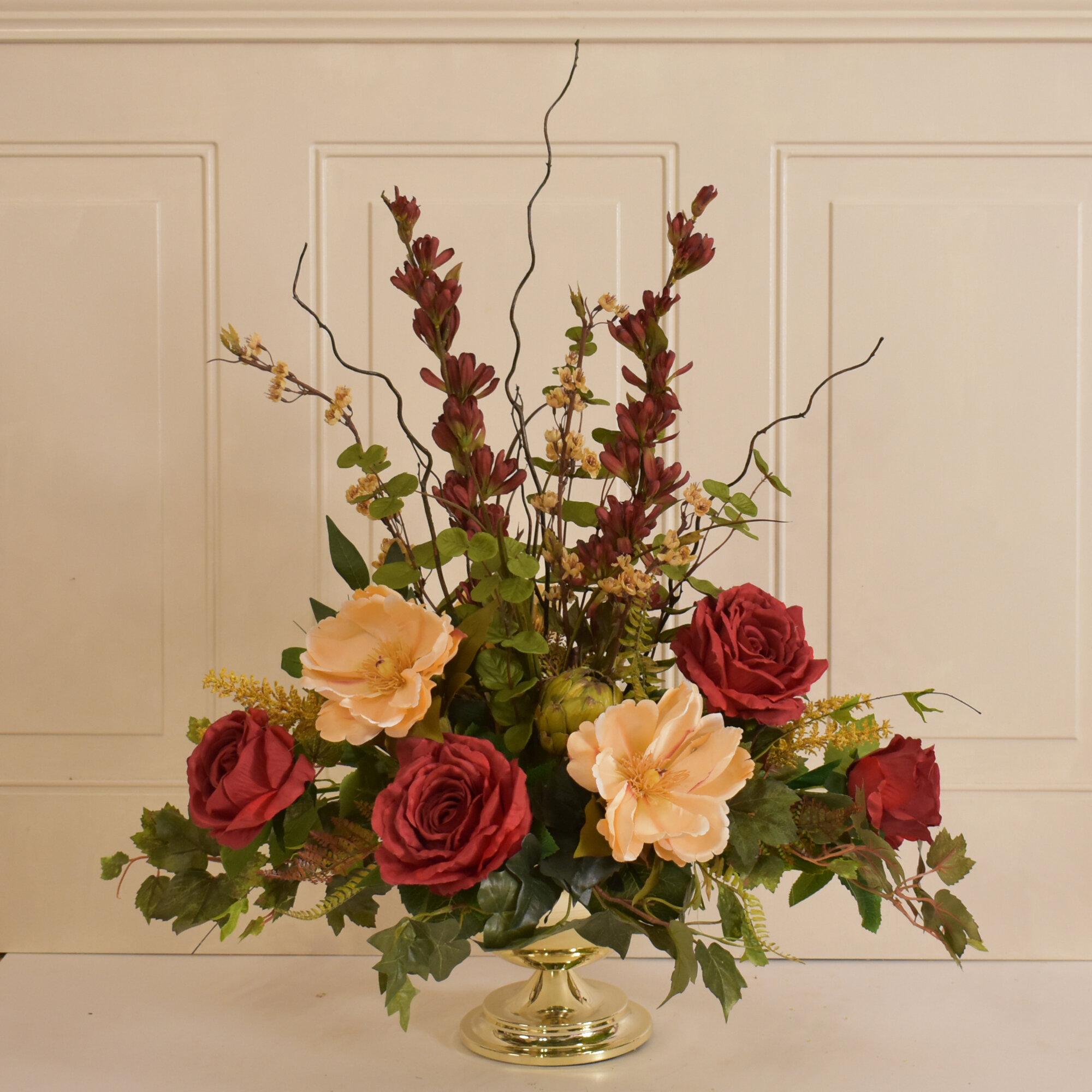 canora grey silk centerpiece flower floral arrangement wayfair rh wayfair com centerpiece floral arrangement ideas centerpiece floral arrangements for weddings
