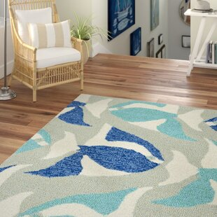 Sereno Traditional Handmade Rectangle Blue Indoor/Outdoor Area Rug