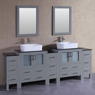Ernest 96 Double Bathroom Vanity Set with Mirror by Bosconi