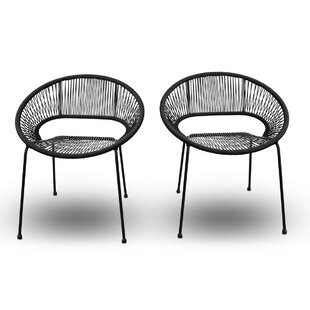 Ehrlich Stacking Patio Dining Chair (Set of 2) by Ivy Bronx