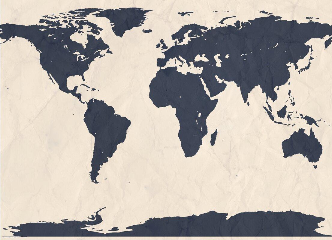 World Atlas Map Wall Mural Part 80