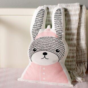 Carson Rabbit Shaped 100% Cotton Throw Pillow