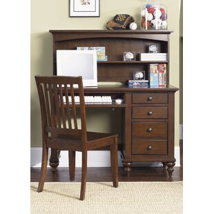 Middlesbrough Desk And Hutch In Cinnamon by Harriet Bee Great price