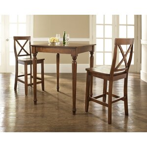 Bogdan 3 Piece Pub Table Set by Darby Home Co