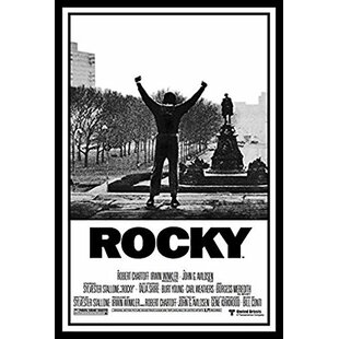 'Rocky 1 Movie Poster Sylvester Stallone Philadelphia PA Boxing Talia Shire Burt Young Carl Weathers Burgess Meredith Underdog Hero Story' Framed Graphic Art by Buy Art For Less
