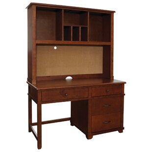 Williamsport 53 W Large Pedestal Desk with Hutch By Latitude Run