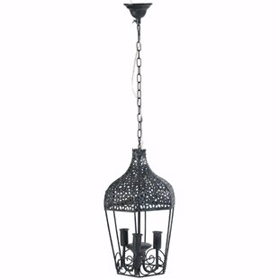 Great Price Elma 3-Light Lantern Pendant By Fleur De Lis Living