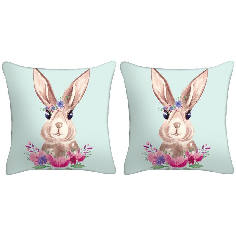 The Holiday Aisle Leavenworth Easter Bunny Throw Pillow Wayfair