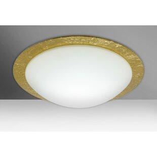 Besa Lighting Ring 3-Light LED Outdoor Flush Mount