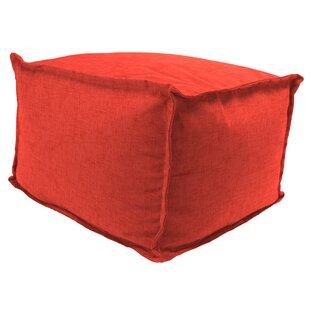 Wilford Flange Edge Pouf Ottoman with CuShion by Winston Porter