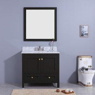 Savings Bluffridge 37 Single Bathroom Vanity Set with Mirror ByWinston Porter