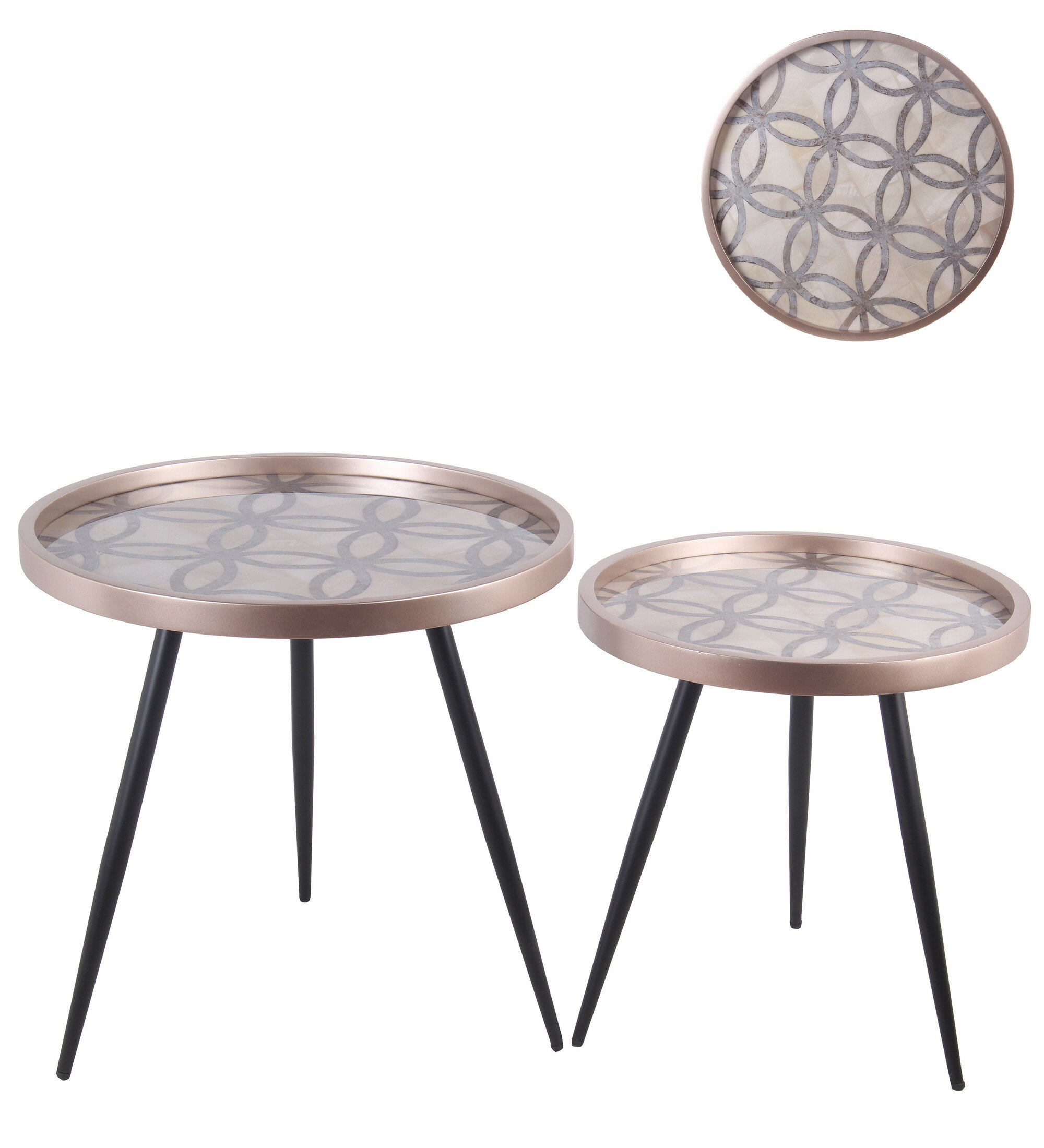 Corrigan Studio Maisha Tray Top 3 Legs Nesting Table Set Wayfair