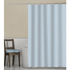 Marvelous Millbury Seersucker Stripe Shower Curtain