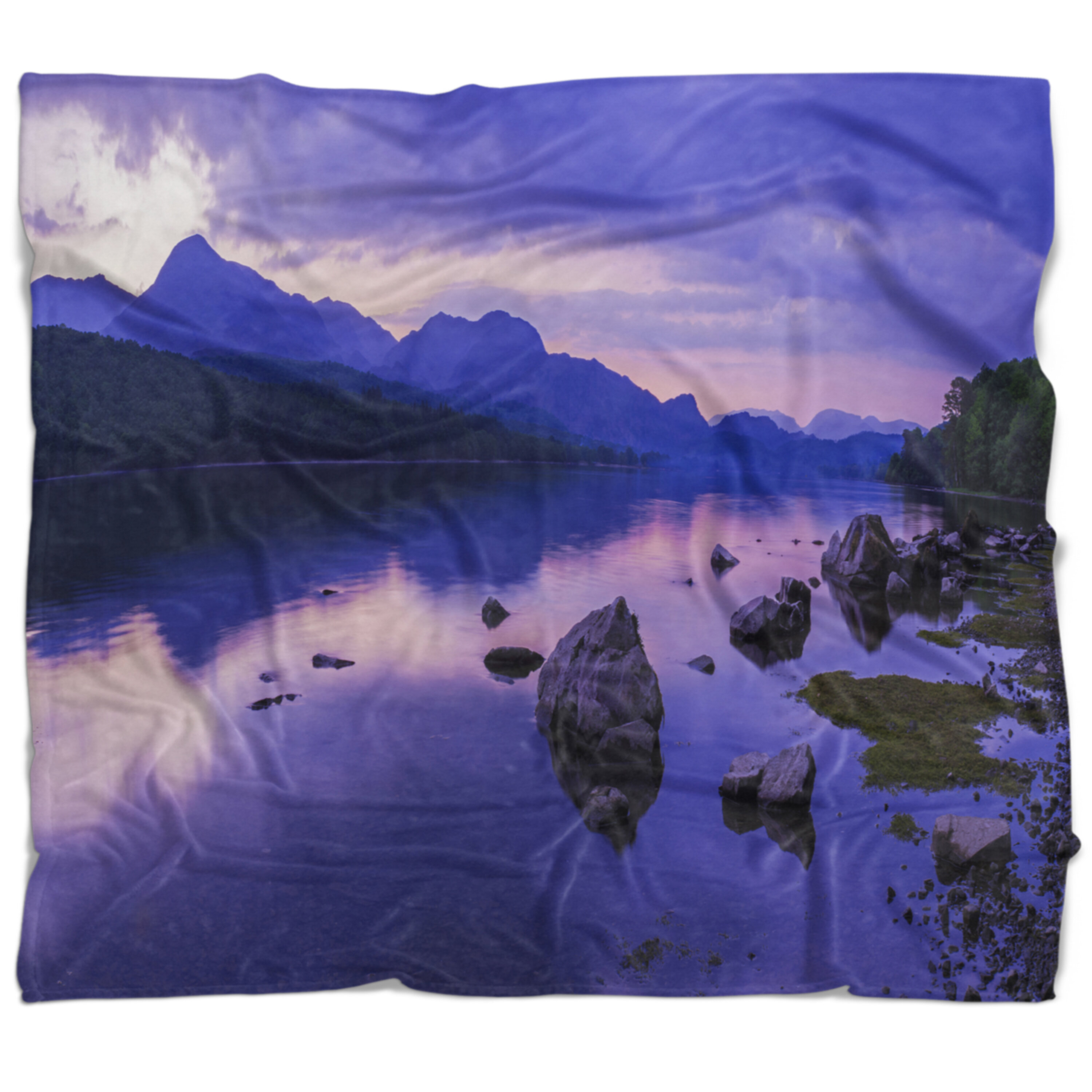 East Urban Home Landscape Coniston Water In The Lake District Blanket Wayfair