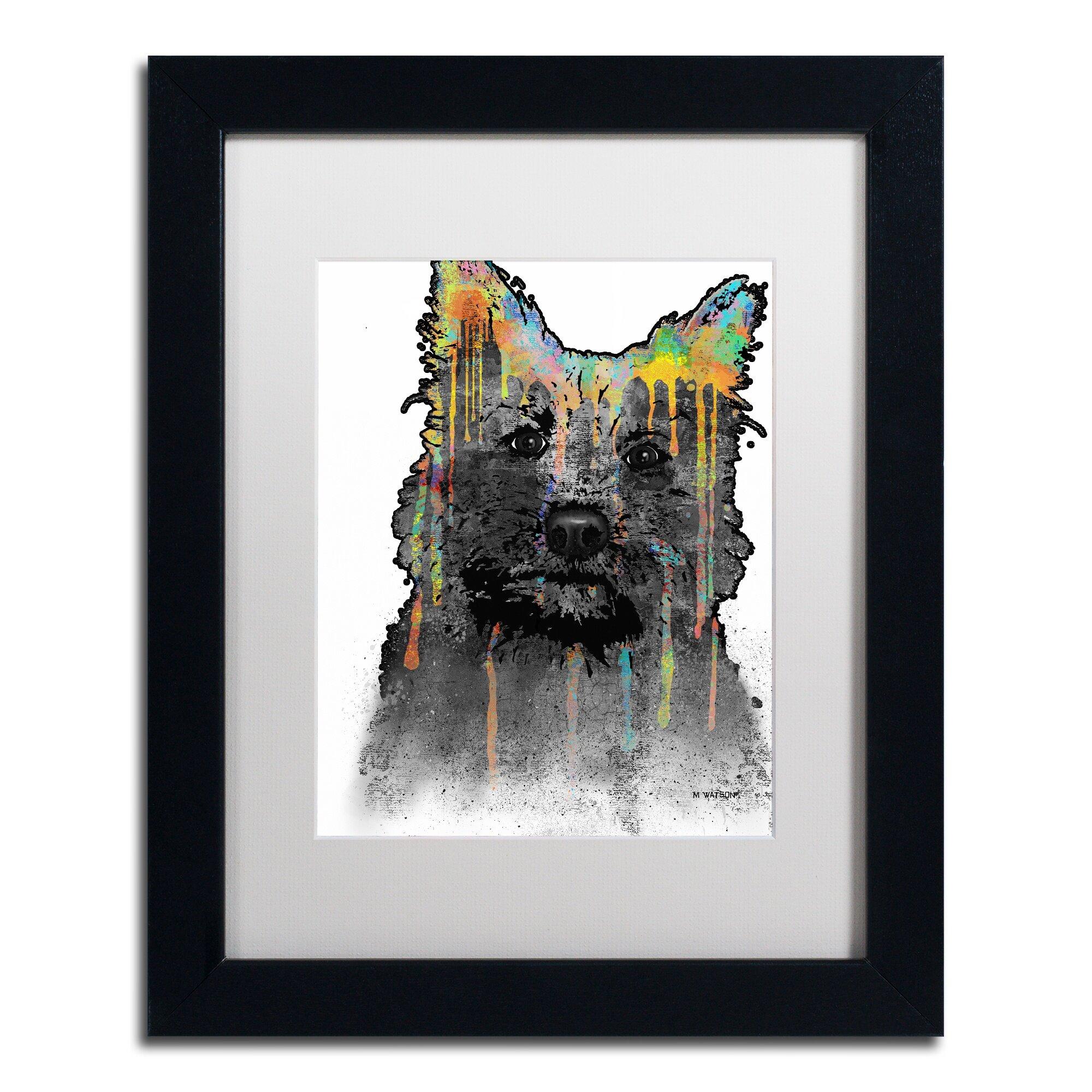 "Matted Keeshond /""Rules/"" Dog Art Print"