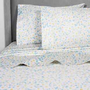 Crossen Daisies 400 Thread Count 100% Cotton Sheet Set