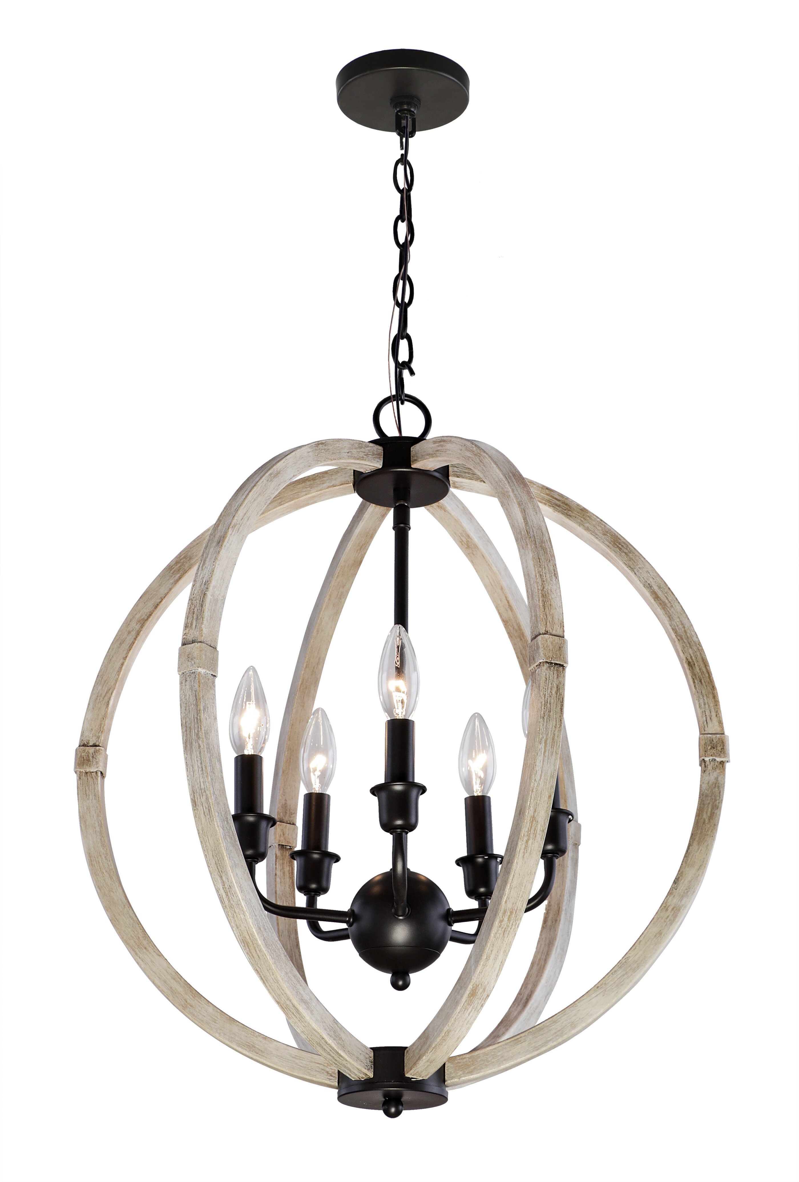 Picture of: Foundry Select Shelby 5 Light Candle Style Globe Chandelier