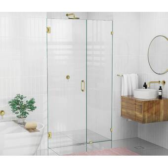 Arizona Shower Door Scottsdale 45 X 72 Hinged Frameless Shower Door With Invisible Shield By Clean X Wayfair