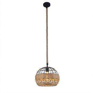 Bungalow Rose Dawsonville 1-Light Globe Pendant