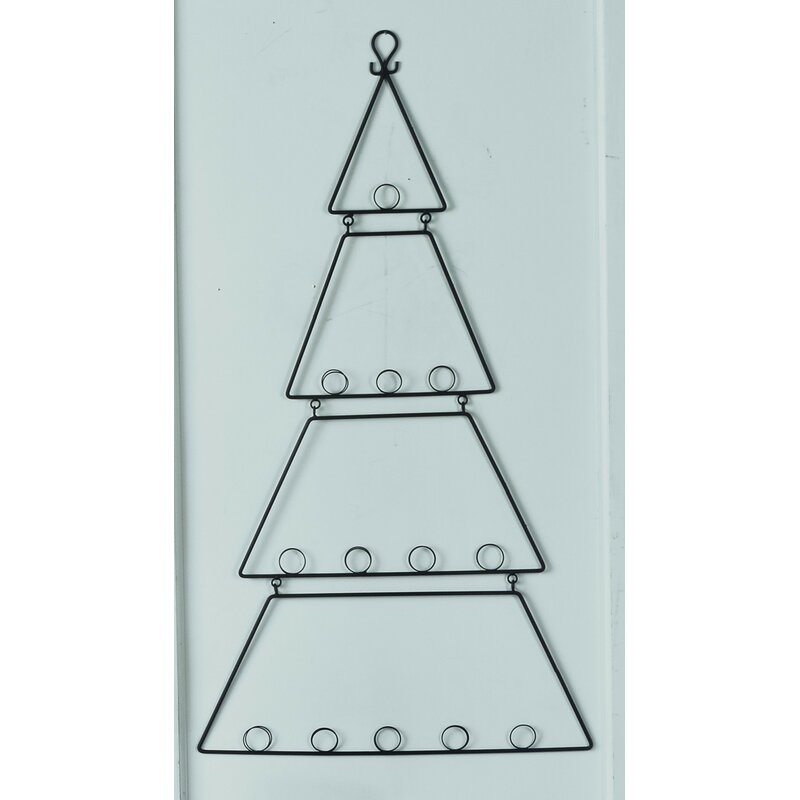 The Holiday Aisle Wall Hanging Metal Tree Card Holder Reviews