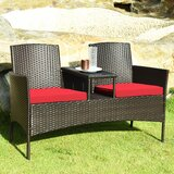 Ballimamore Patio 3 Piece Rattan Seating Group with Cushions by Winston Porter