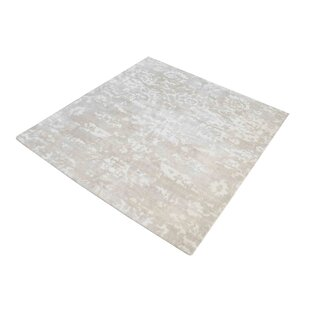 Bargain Simmonds Hand-Woven Beige/White Area Rug ByWrought Studio