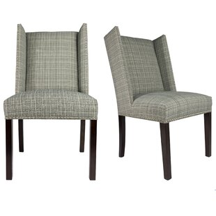 Winged Upholstered Dining Chair (Set of 2..