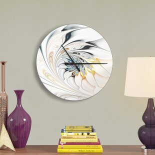 Stained Glass Floral Art Wall Clock