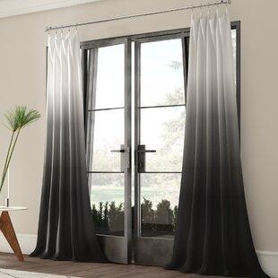 Winterbourne Synthetic Semi-Sheer Rod Pocket Single Curtain Panel by Mercury Row