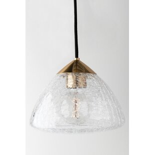 Hults 1-Light Schoolhouse Pendant by Wrought Studio