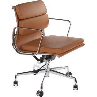 Genial Tan Leather Office Chair | Wayfair