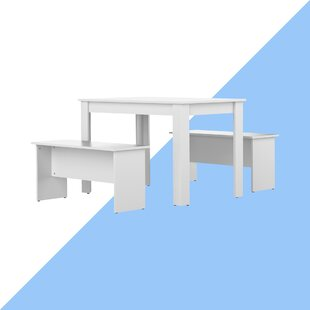 Romario Dining Set With 2 Benches By Hashtag Home
