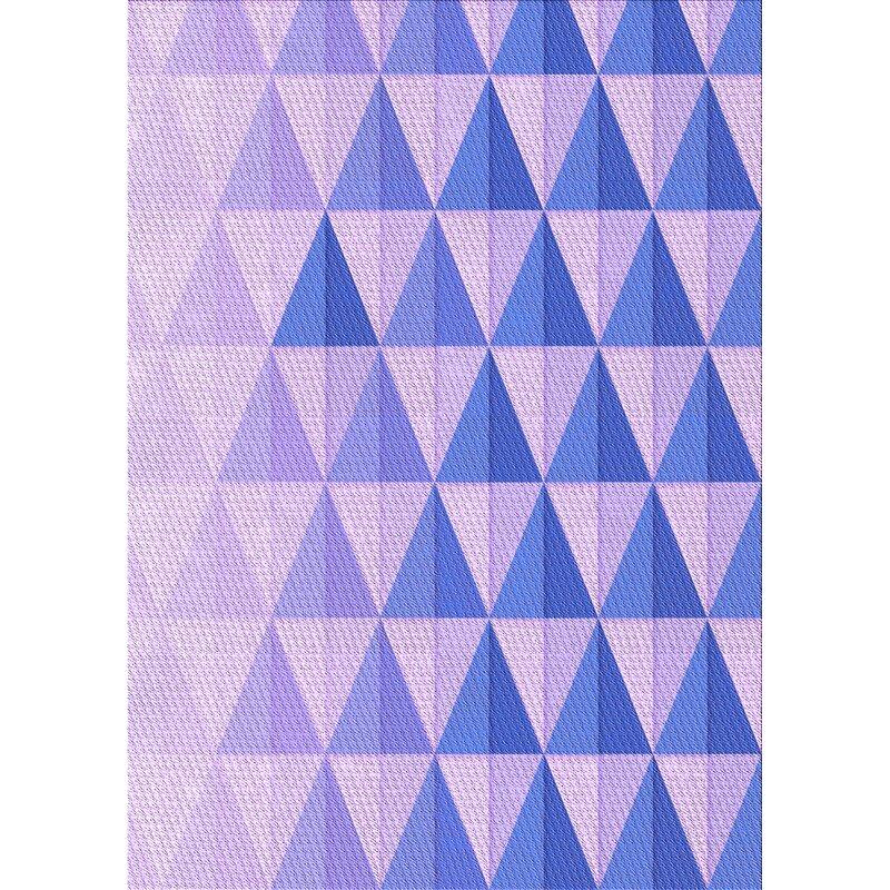 East Urban Home Warman Geometric Wool Purple Area Rug Wayfair