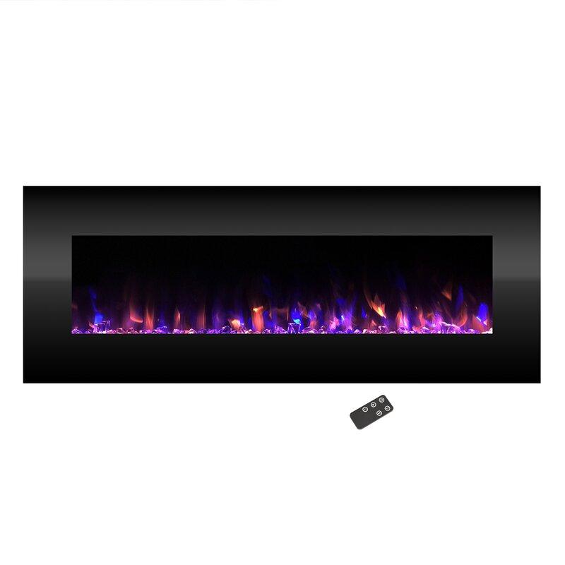 Orren Ellis Quevedo No Heat Wall Mounted Electric Fireplace