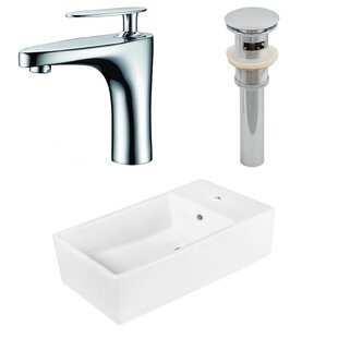 Affordable Above Counter Ceramic Circular Undermount Bathroom Sink with Faucet and Overflow ByRoyal Purple Bath Kitchen