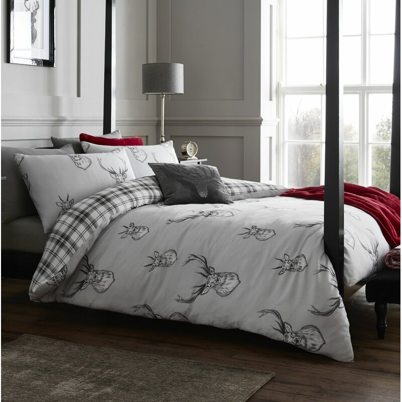 0bb18d3c0e74 Catherine Lansfield Stag Easy Care Duvet Cover Set & Reviews ...