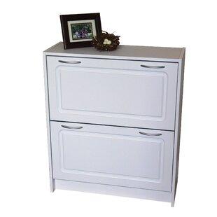 24 Pair Stackable Shoe Storage Cabinet