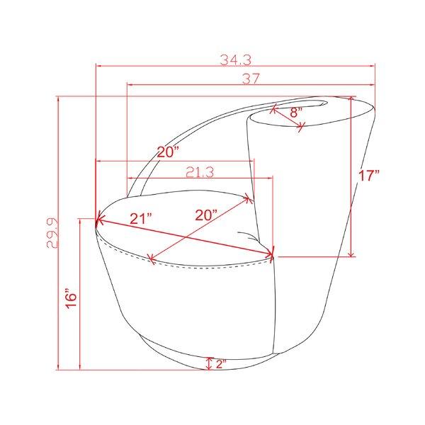 Pasargad Vicenza Crescent Barrel Chair Wayfair
