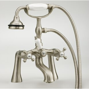 Triple Handle Deck Mounted Tub Filler with Hand Shower ByCheviot Products