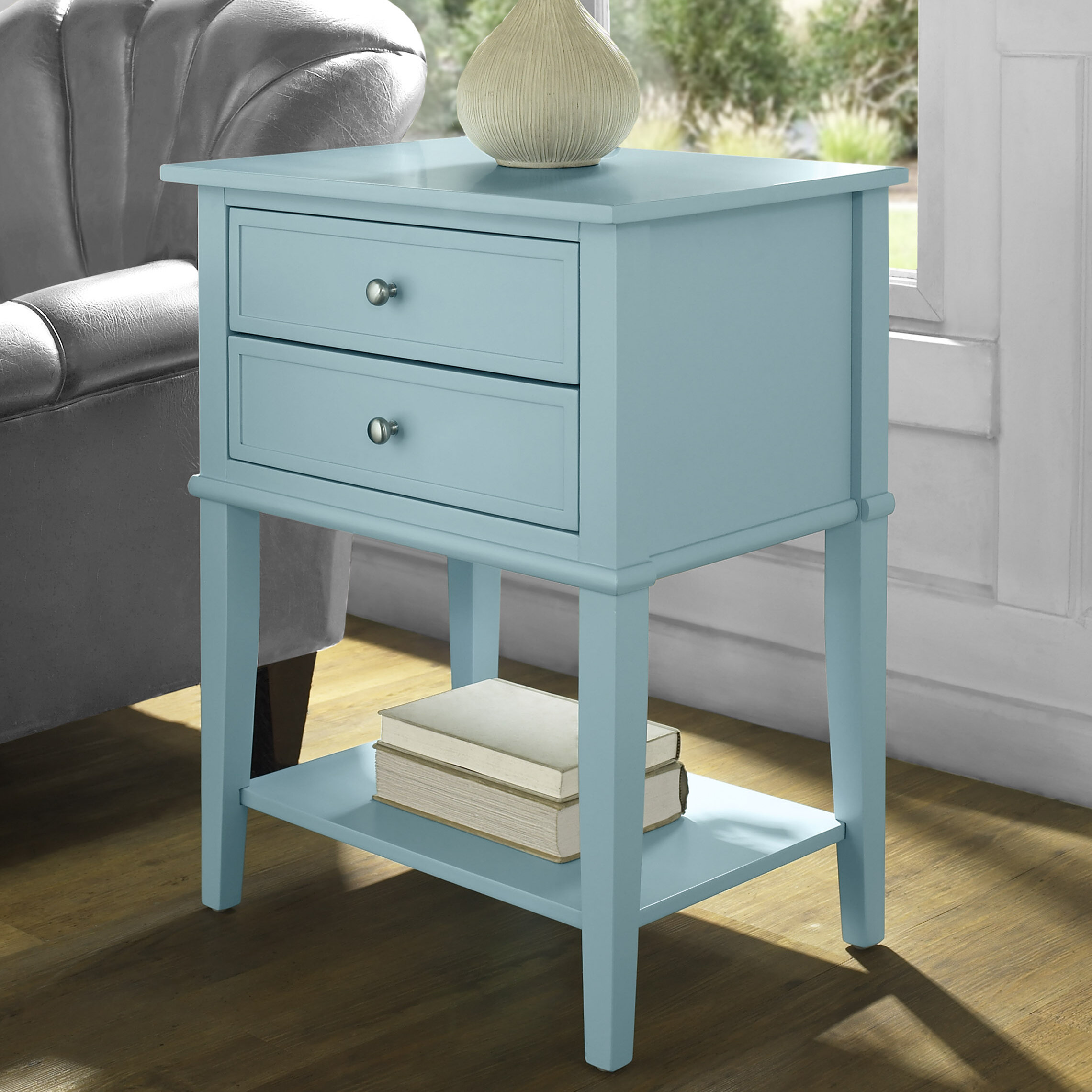 Blue Nightstands Free Shipping Over 35 Wayfair