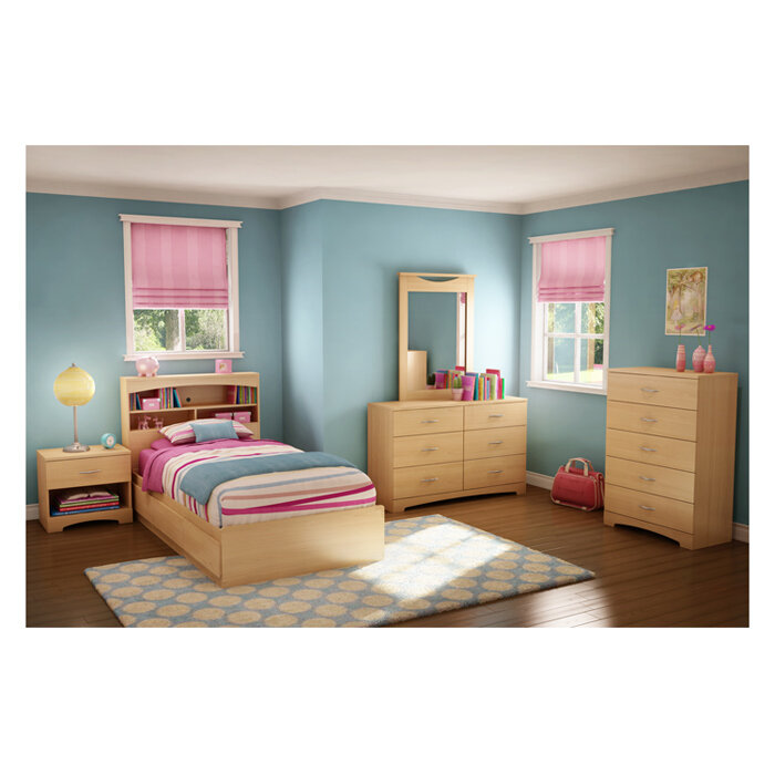 full shipping overstock home garden today free step headboard one product wood furniture south bookcase shore