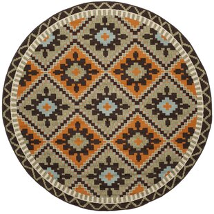 Henbury Orange/Green/Brown Indoor/Outdoor Area Rug by Bloomsbury Market