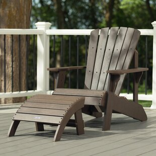 Plastic/Resin Adirondack Chair With Ottoman By Lifetime