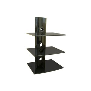 Mount-it Triple Glass DVD/DVR/Component Wall Mount Shelf Image