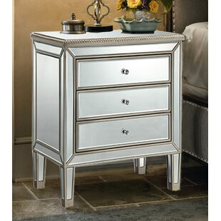 House of Hampton Beaty 3 Drawer Nightstand