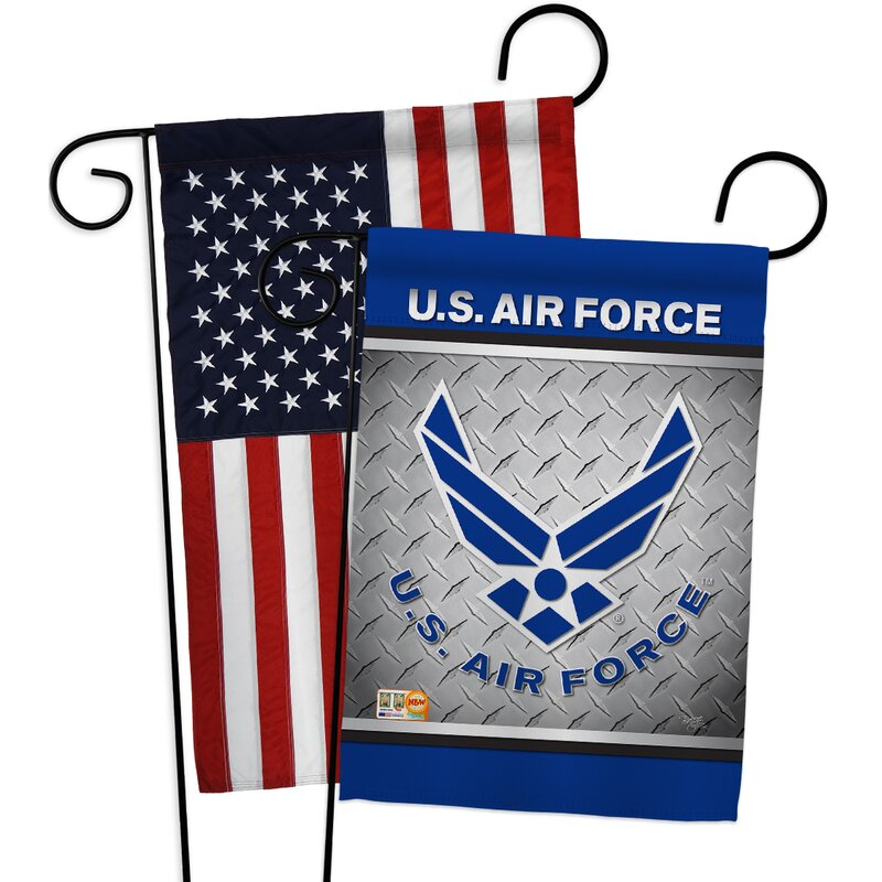 Breeze Decor American Air Force Impressions Decorative American Applique 2 Sided Polyester 19 X 13 In Garden Flag Wayfair