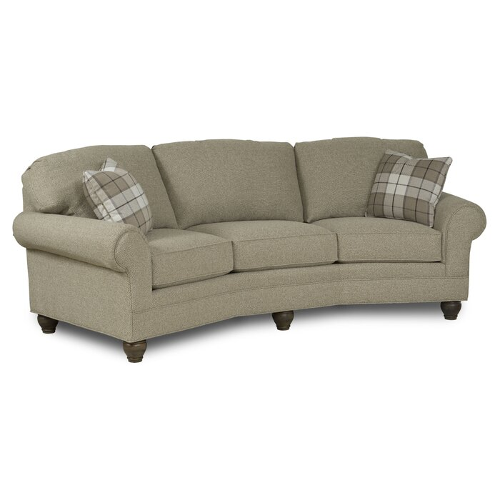 Crosby Leather Curved Sofa